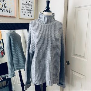 Nordstrom Supplies Oversize Gray Sweater Large